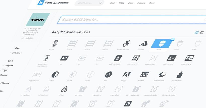 無料アイコンフォント「Font Awesome」の使い方