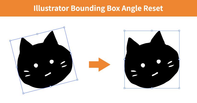 Illustratorで回転したオブジェクトのボックスを水平に戻す方法