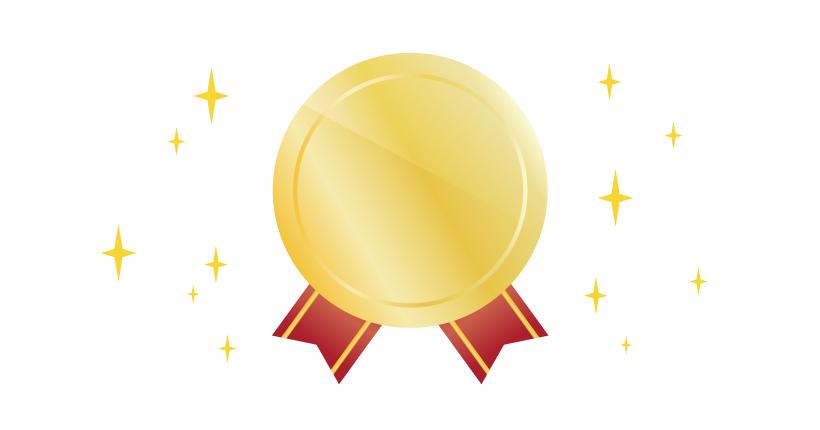 Illustratorでメダルのイラストを作成する方法